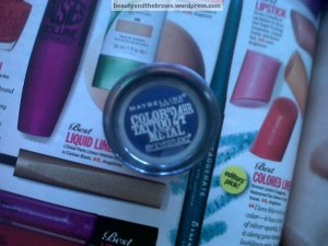 Maybelline Color Tattoo in 75 Electric Blue - the lowest I've seen this go on sale for is about 4.99CDN