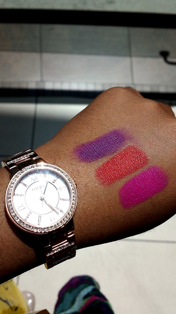 Top to Bottom: Matte Glam, Matte Passion, Matte Orchid