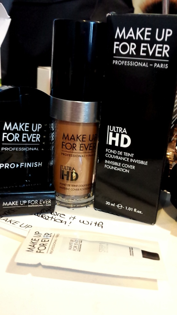 Pro Finish in 168 Golden Camel, Rouge Artist Natural in N9, Ultra HD Foundation in Y445